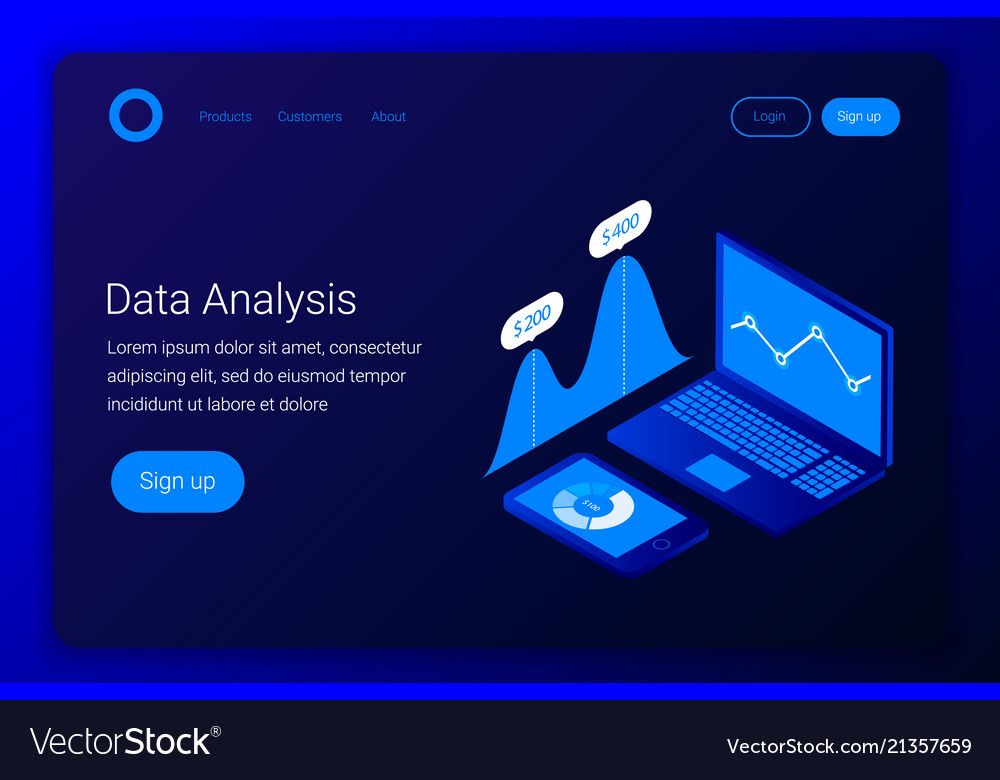 Futuristic business analytics concept