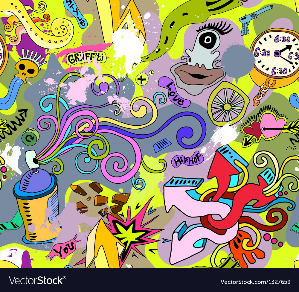 Graffiti wall art background