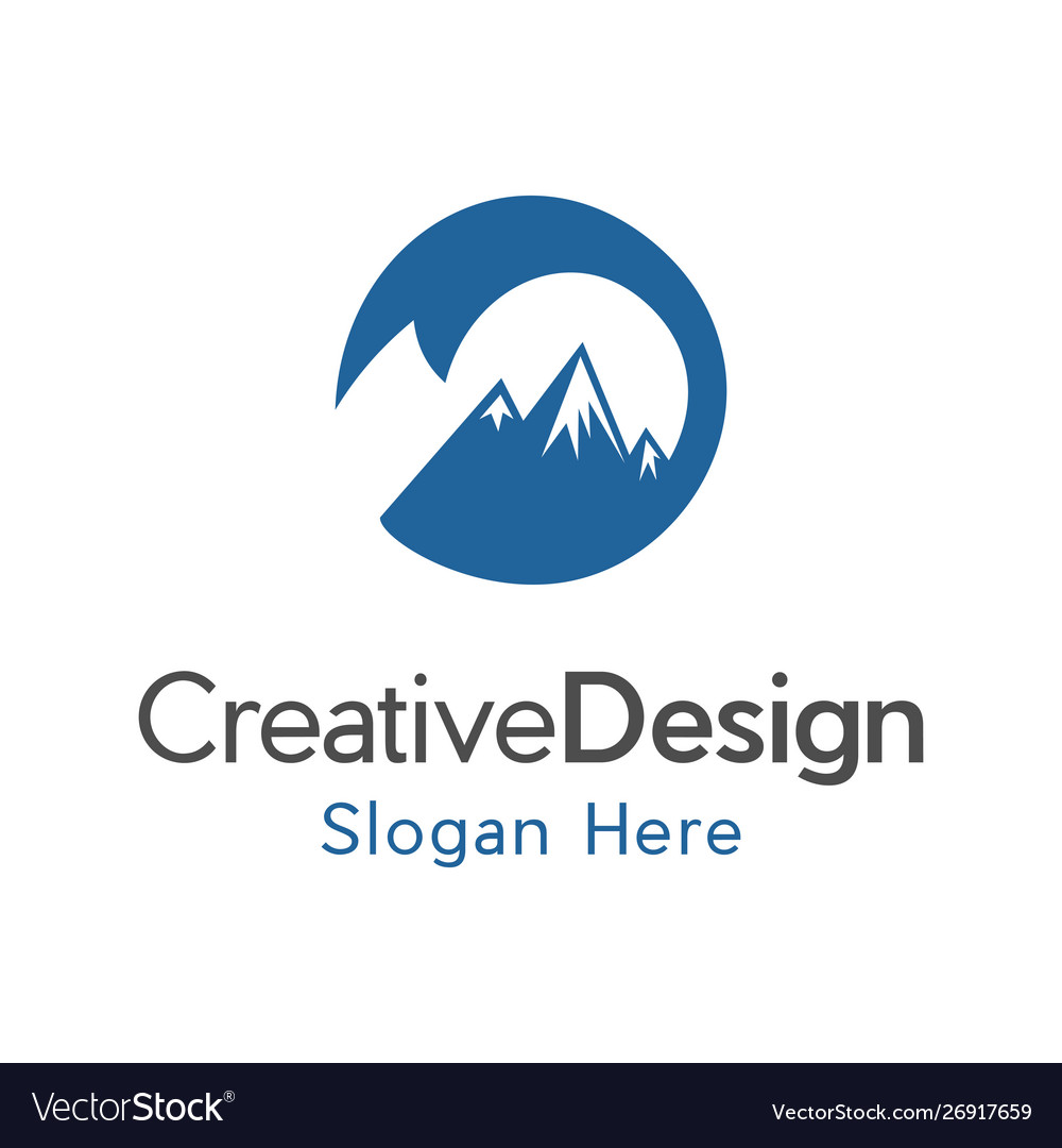 High mountain creative business logo