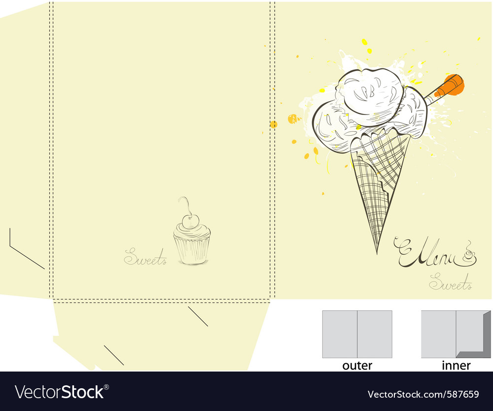 Ice cream template gallery template design ideas for Librecad templates download