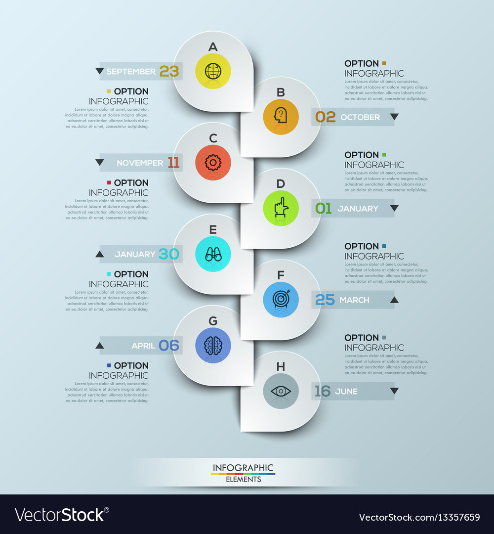 infographic design template with vertical timeline