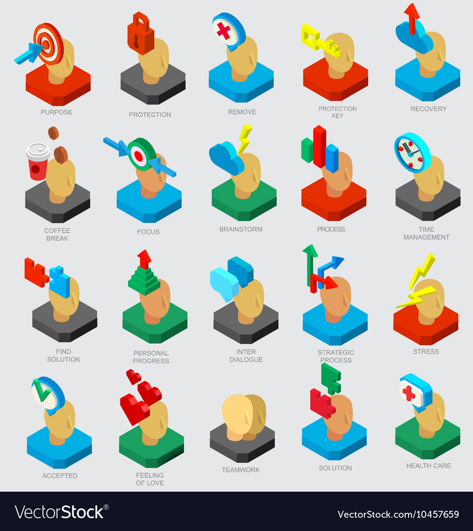 Isometric icons collection