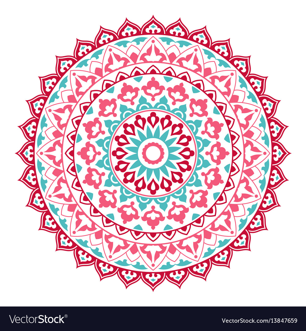 Mandala ornamental round pattern