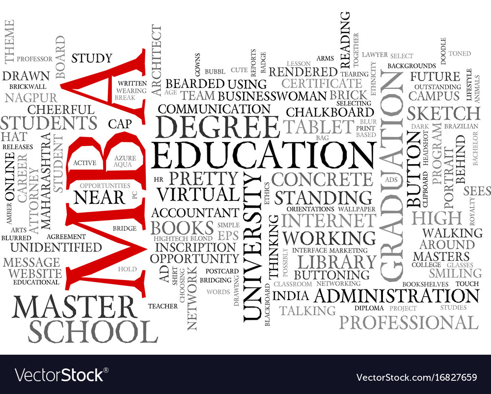 Mba Word Cloud Concept Royalty Free Vector Image