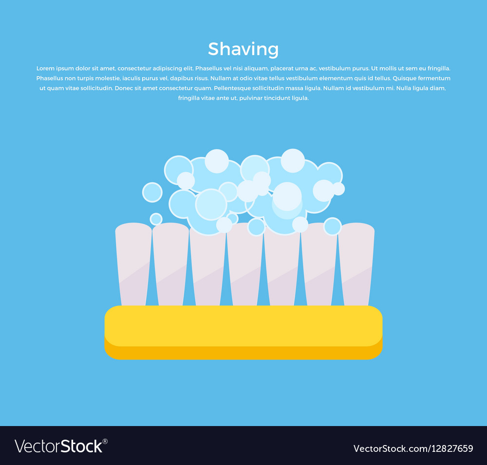 Shaving Concept Banner vector image
