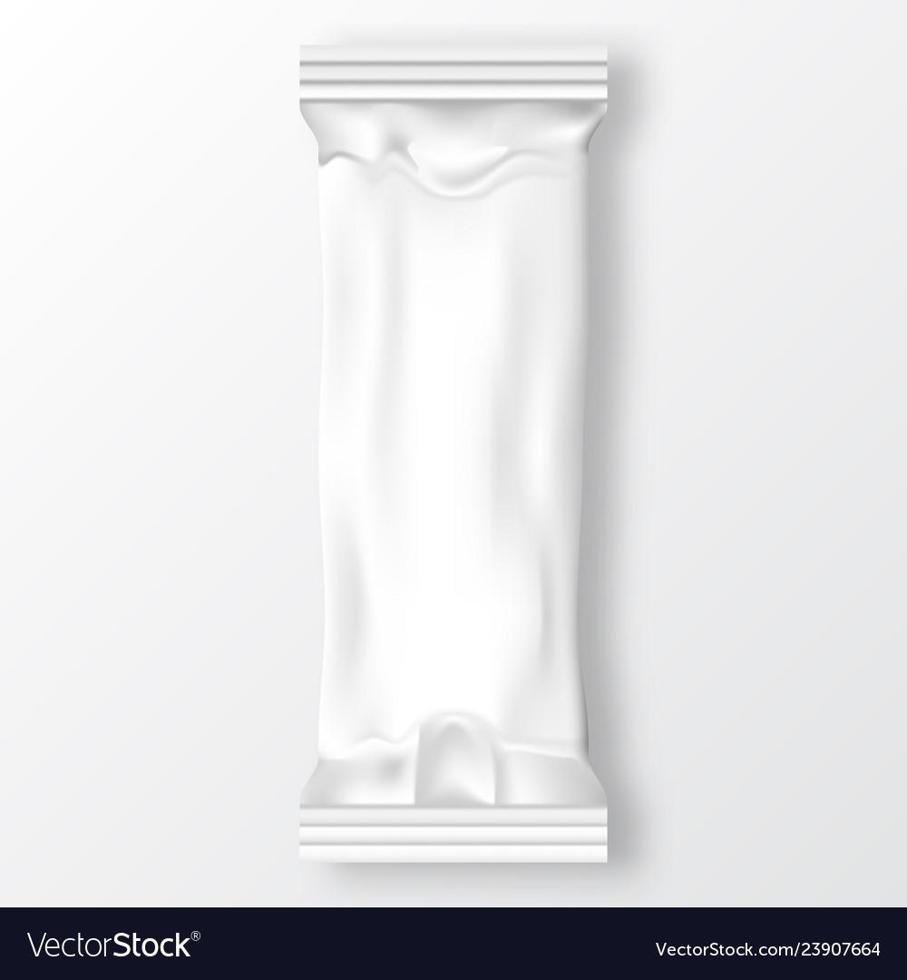 Blank plastic foil bag for packaging design