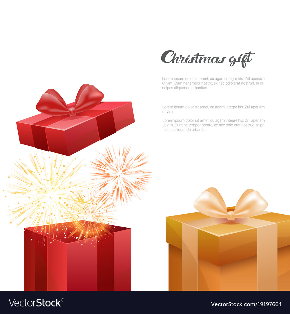 Christmas Gift Box Template.Christmas Gift Boxes New Year Presents Template