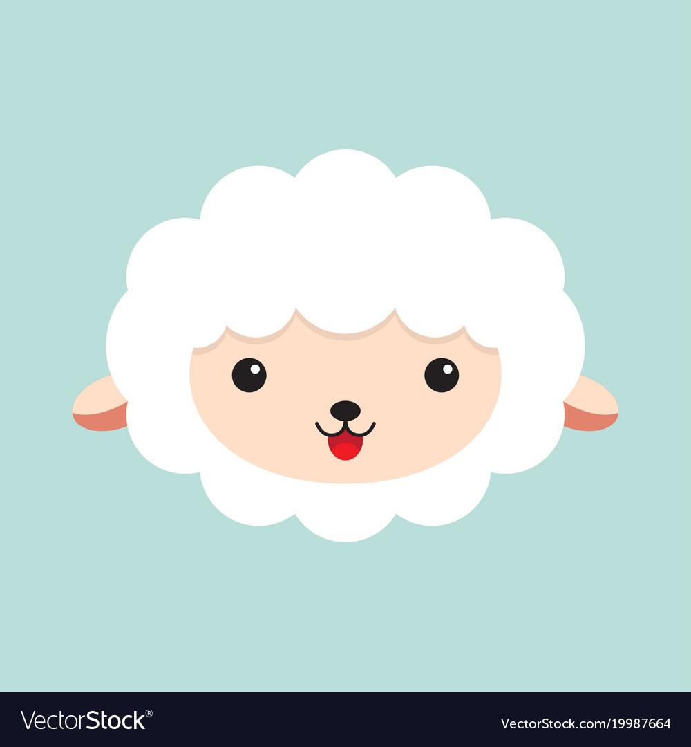 Cute cartoon sheep Royalty Free Vector Image - VectorStock