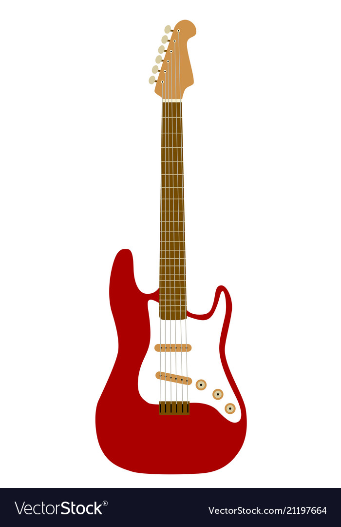 Electric red guitar