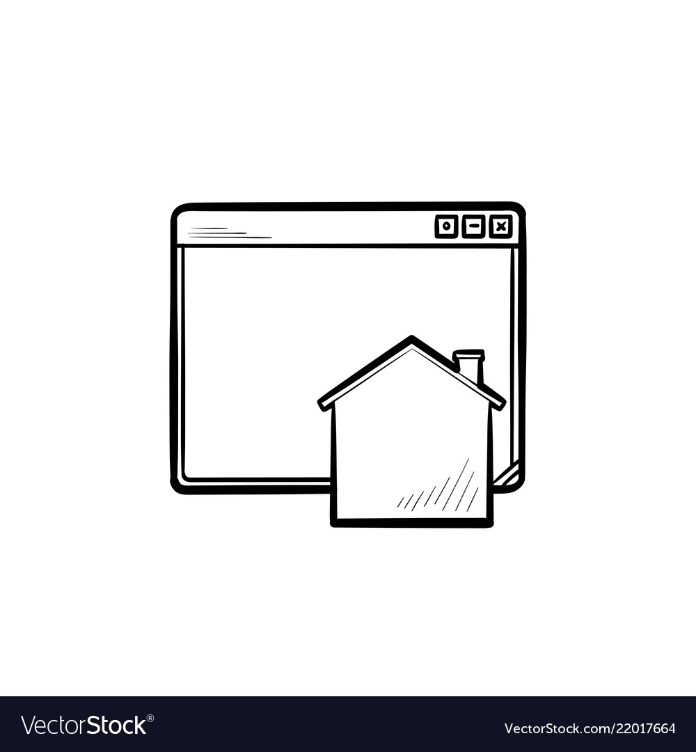 Home page hand drawn outline doodle icon