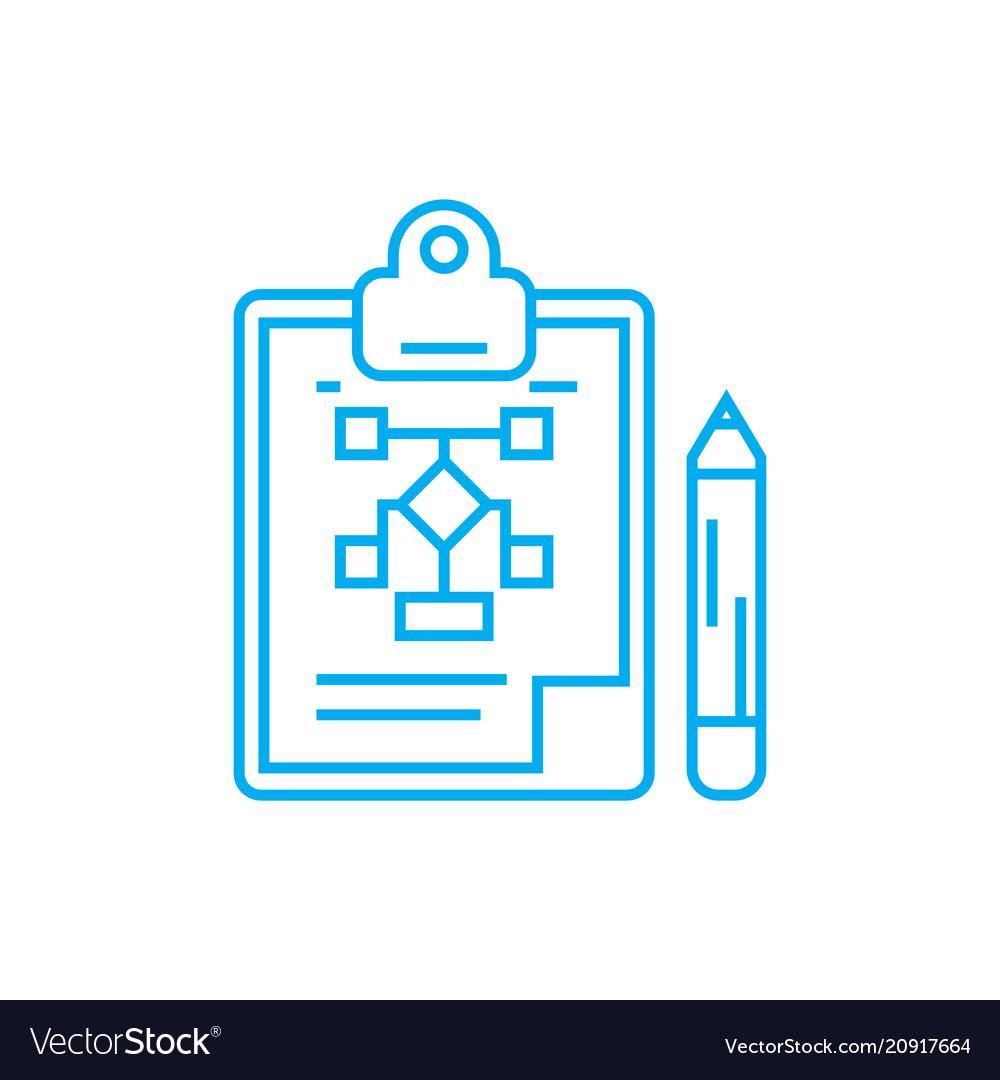 organizational structure development linear icon vector image vectorstock