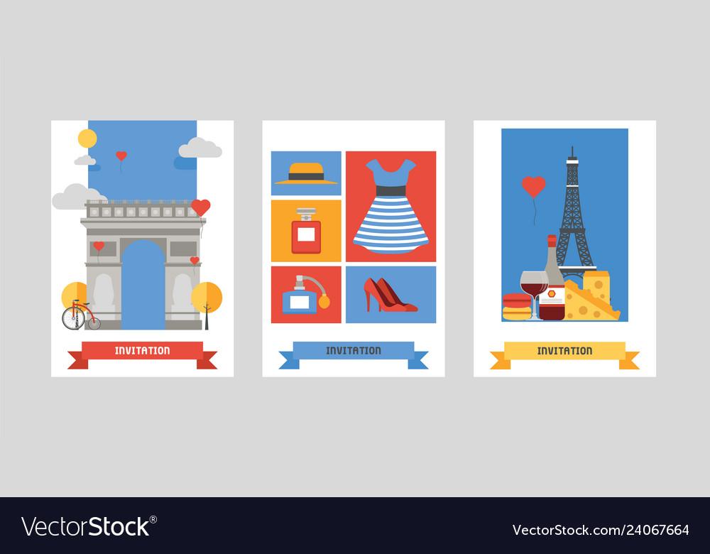 Paris pattern french culture eiffel tower