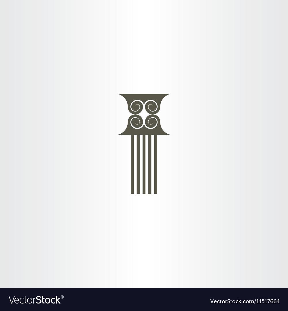 Pillar column icon