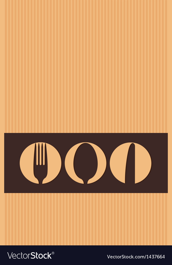Restaurant menu design whit cutlery symbols on car