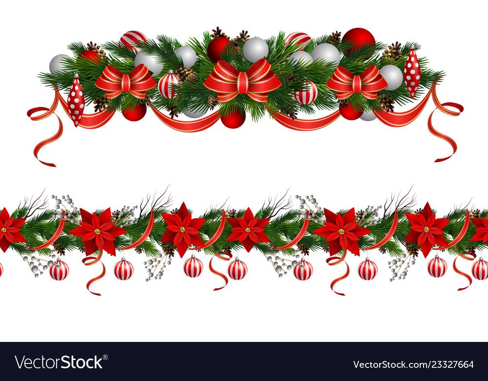 christmas borders Royalty Free Vector