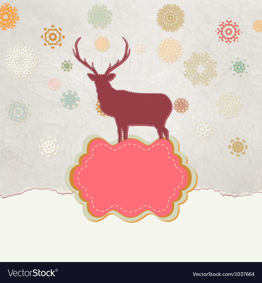 Vintage christmas deer pattern