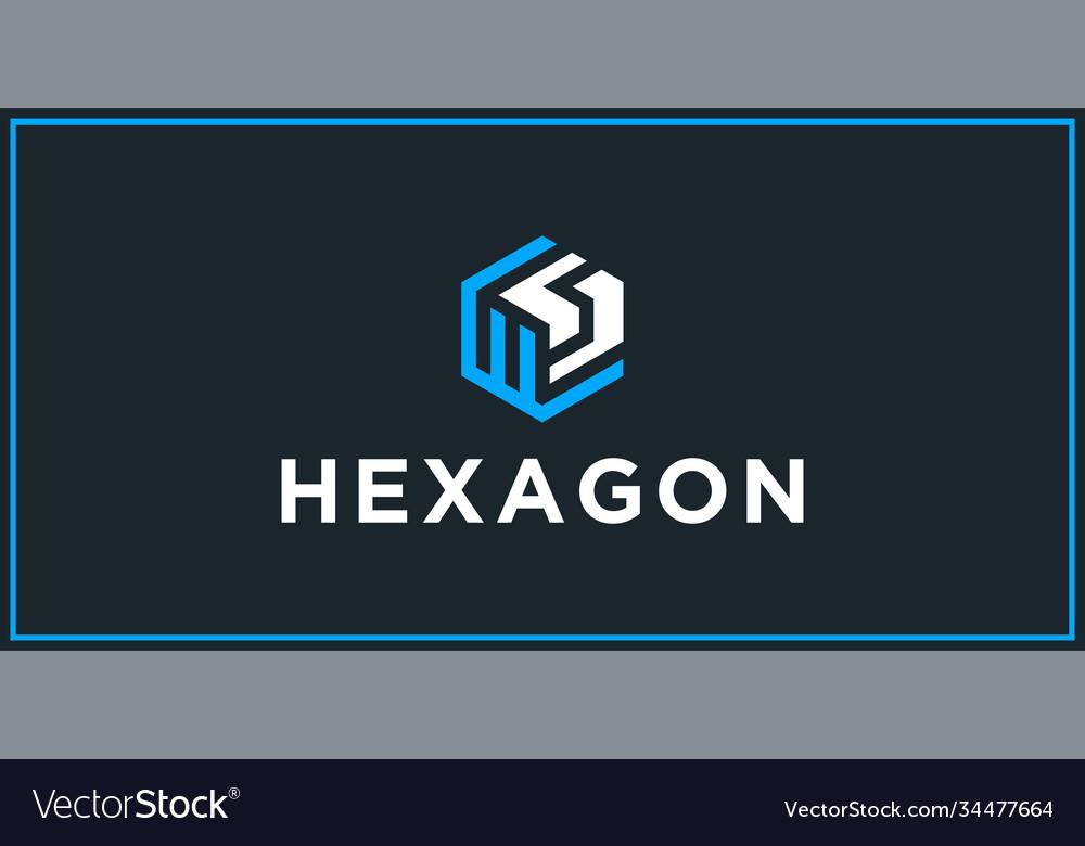 Ws hexagon logo design inspiration