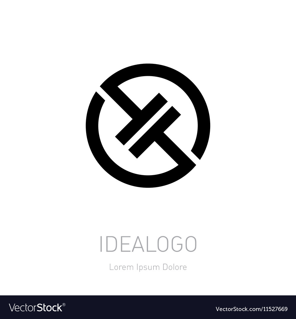 Abstract logo design template High-tech