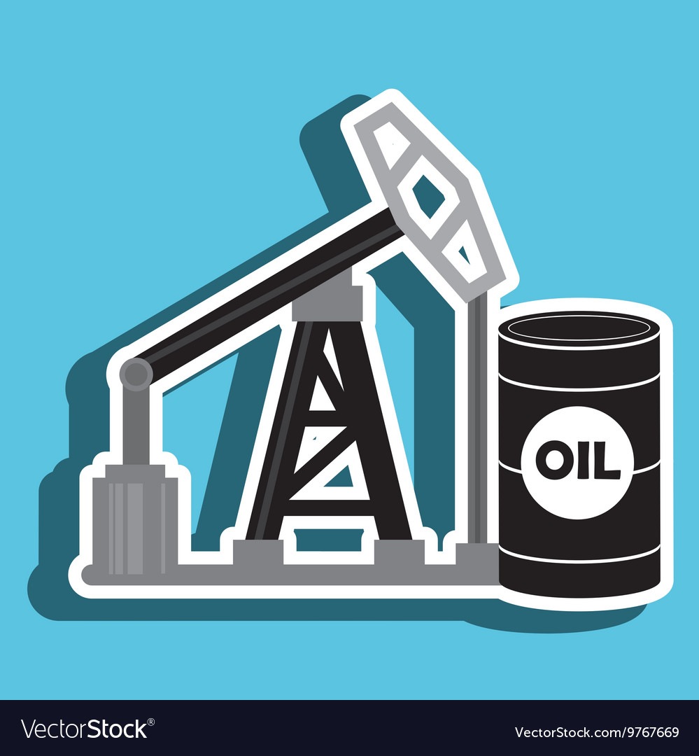 Barrel and petroleum isolated icon design