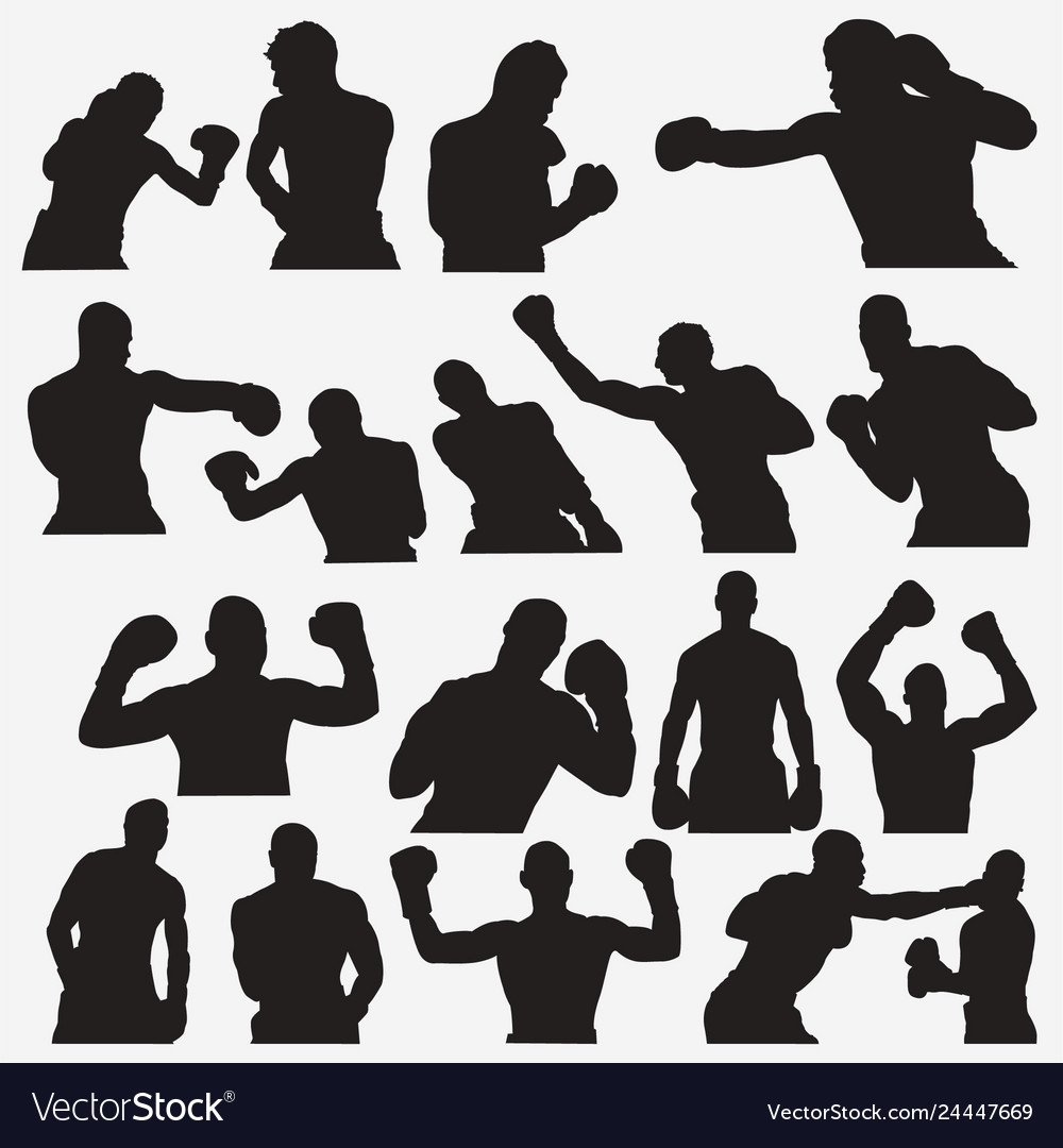 Boxing silhouettes 2