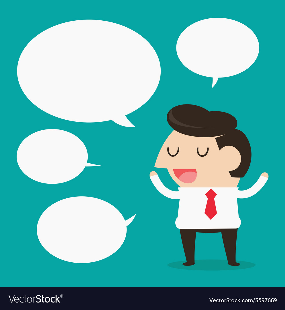Businessman talking vector image