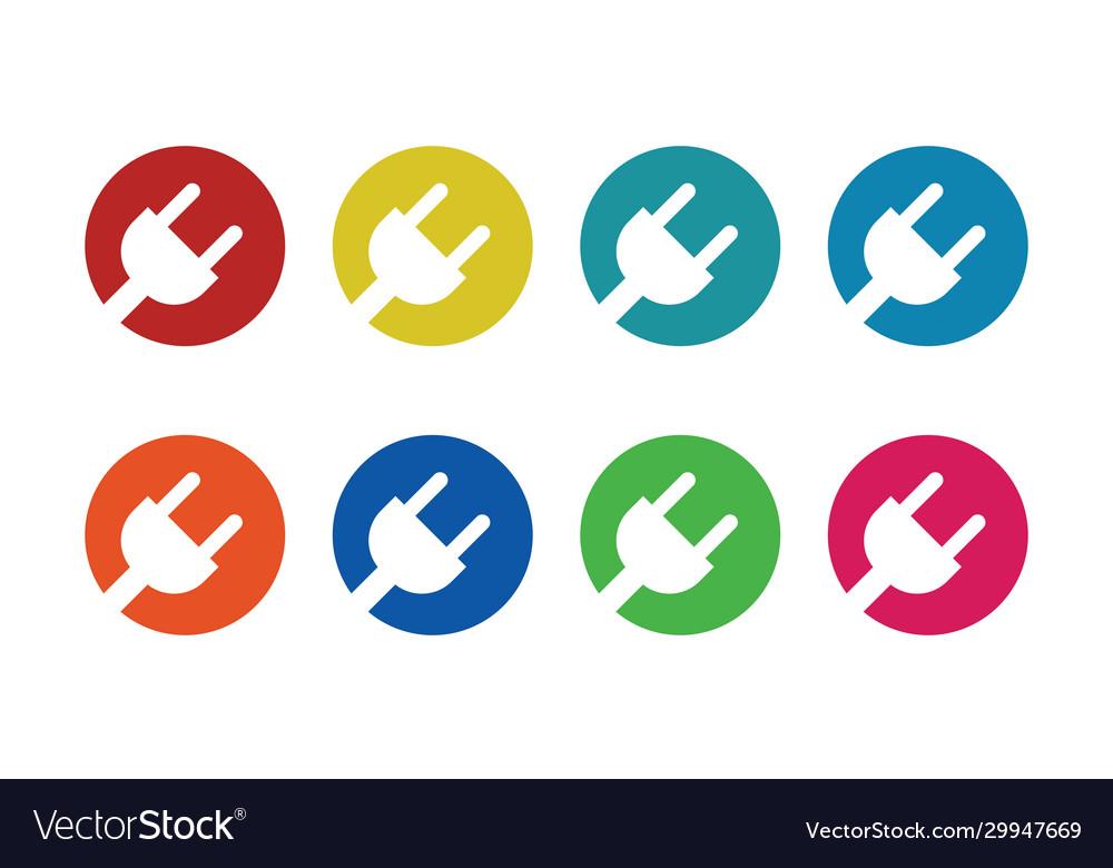 Circle electric colored logo
