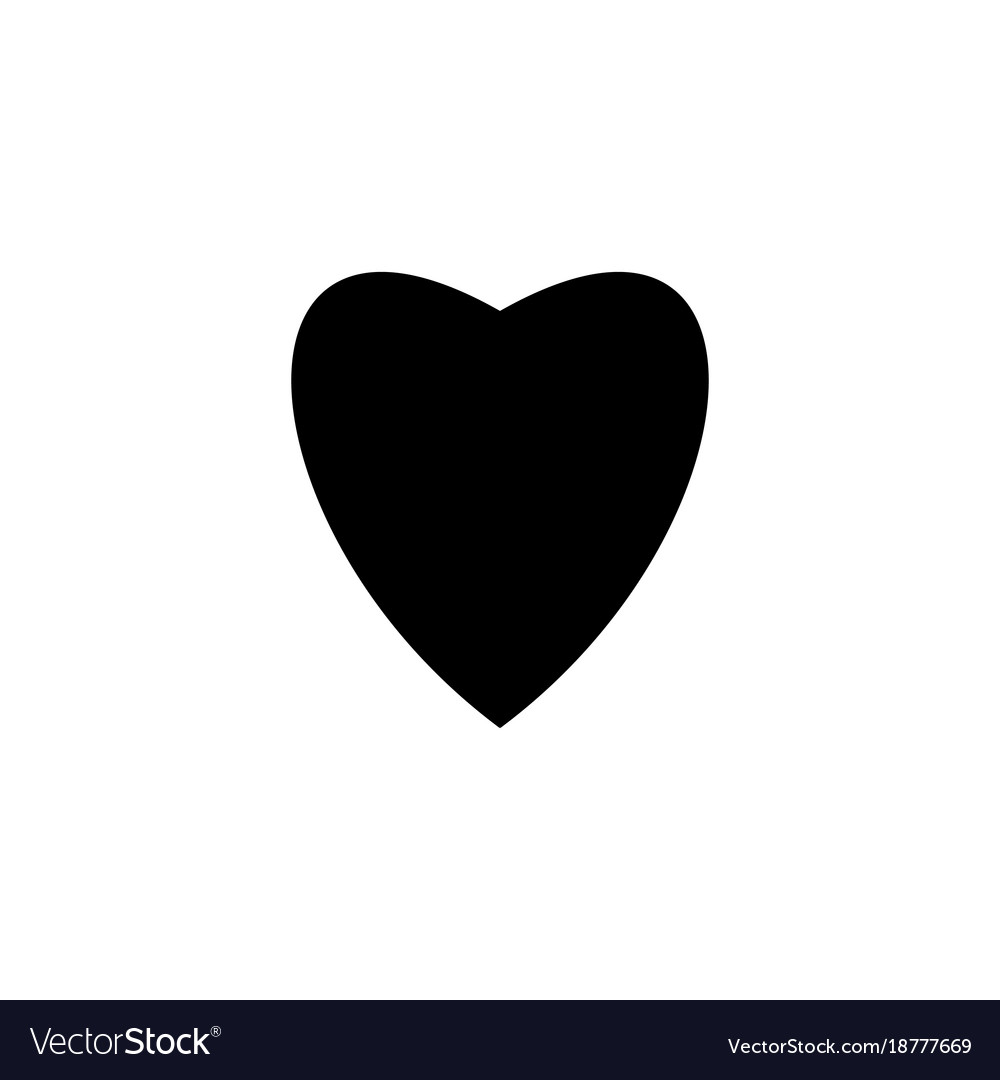 Heart Black On White Background Sign Royalty Free Vector