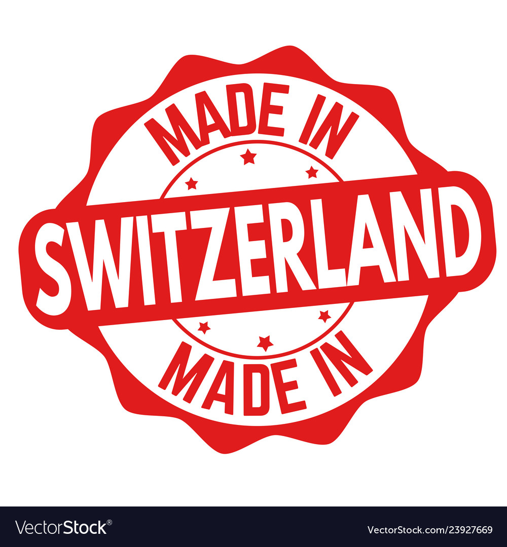 Made in switzerland sign or stamp
