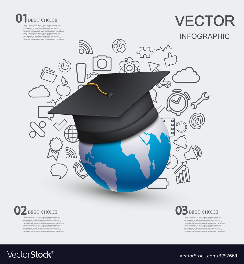 Modern education infographic background