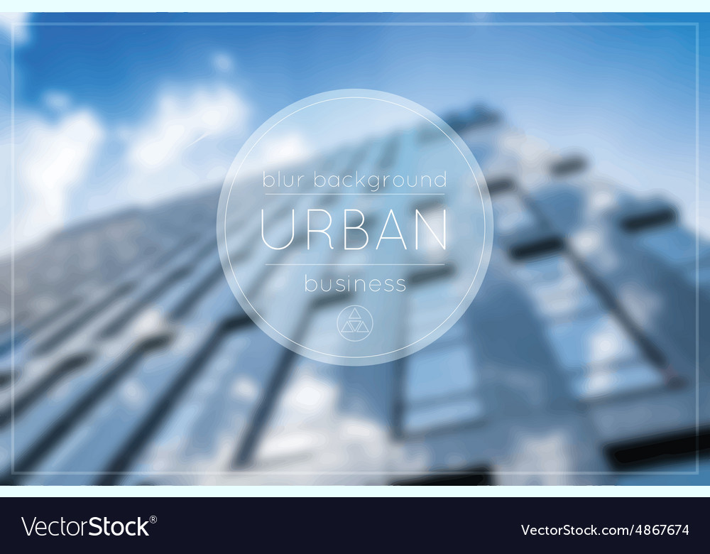 Blur Business Urban Blue Background Office Vector Image