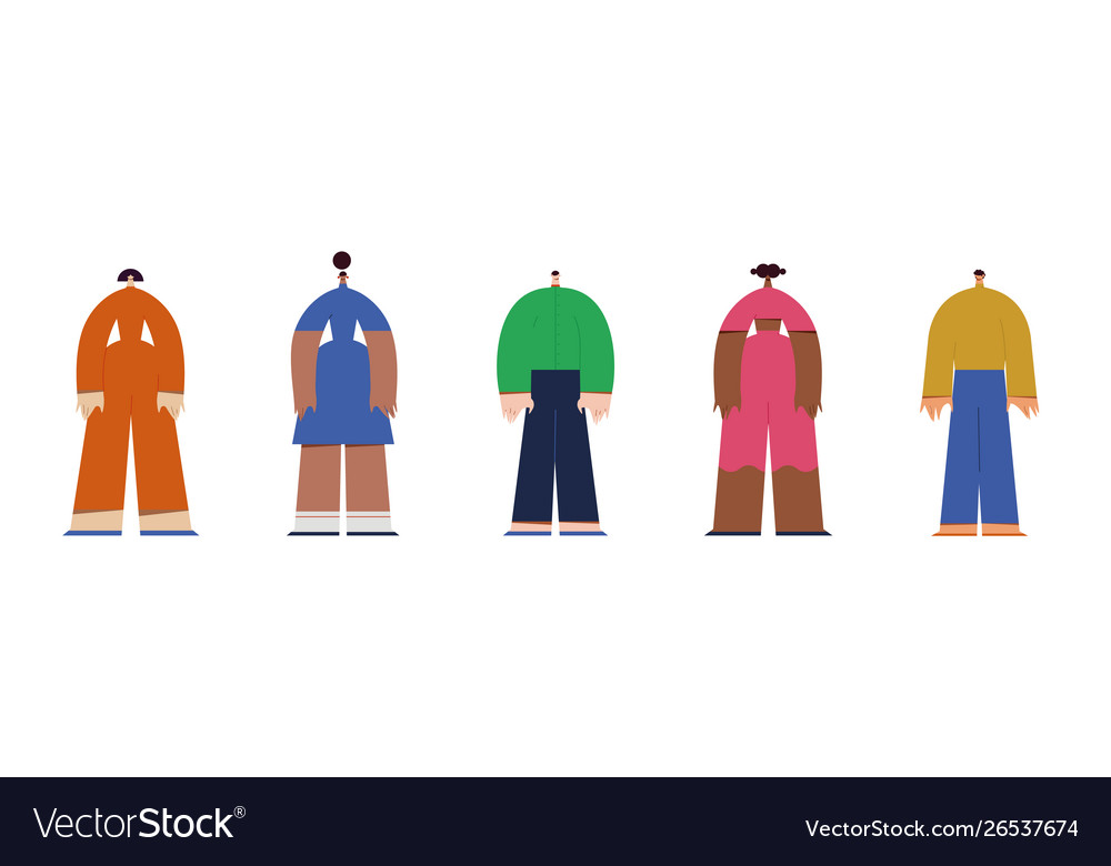 Different people flat design