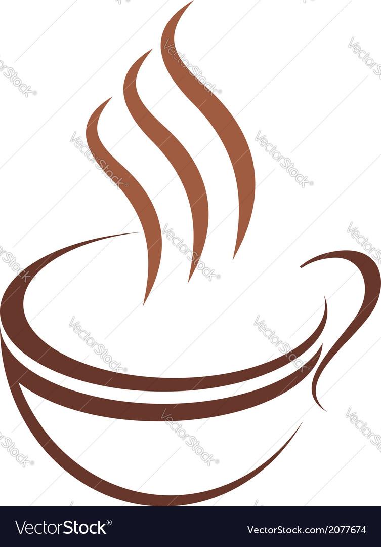 Doodle sketch cup of steaming hot beverage vector image