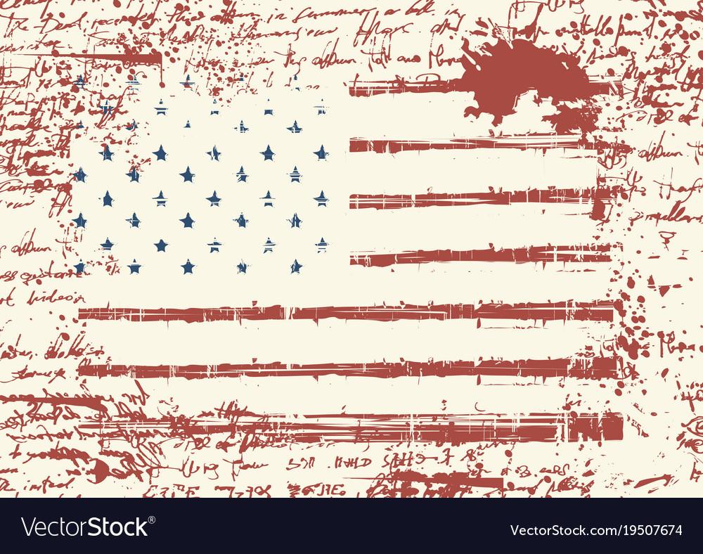 Grunge usa flag vintage american flag