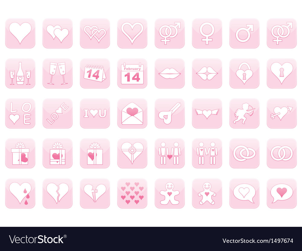 Icons for Day of Valentine