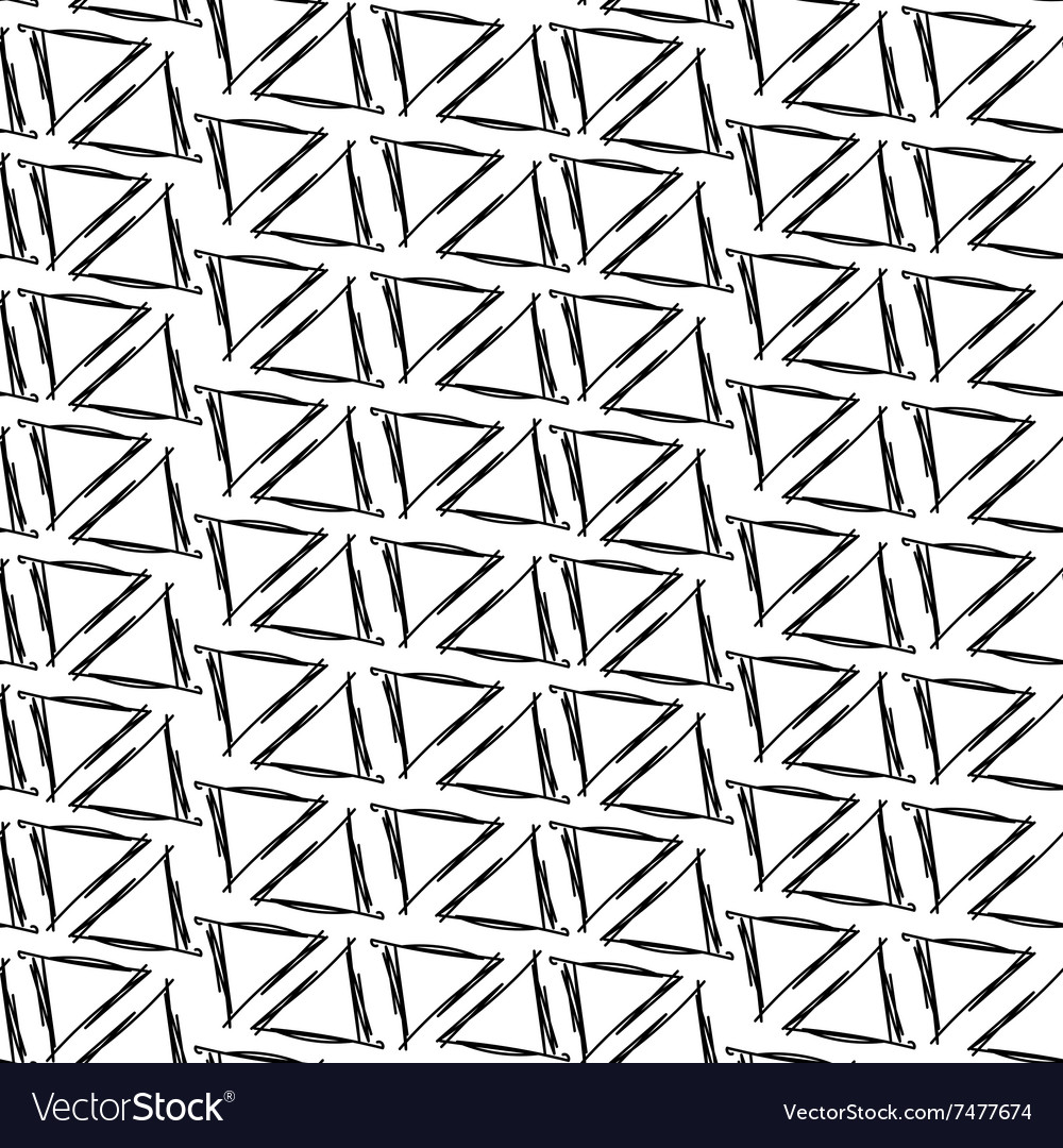 Ink drawing triangles simple background seamless