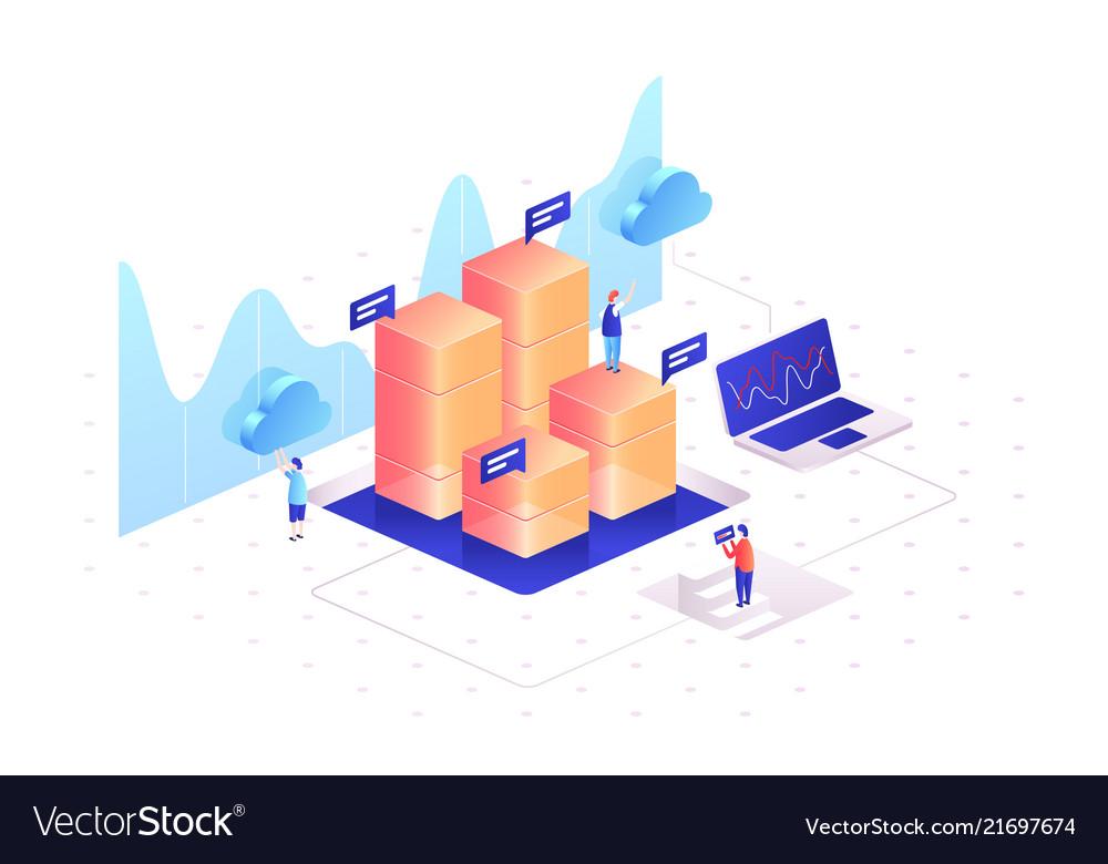 Managing data graphs of statistics analyzing