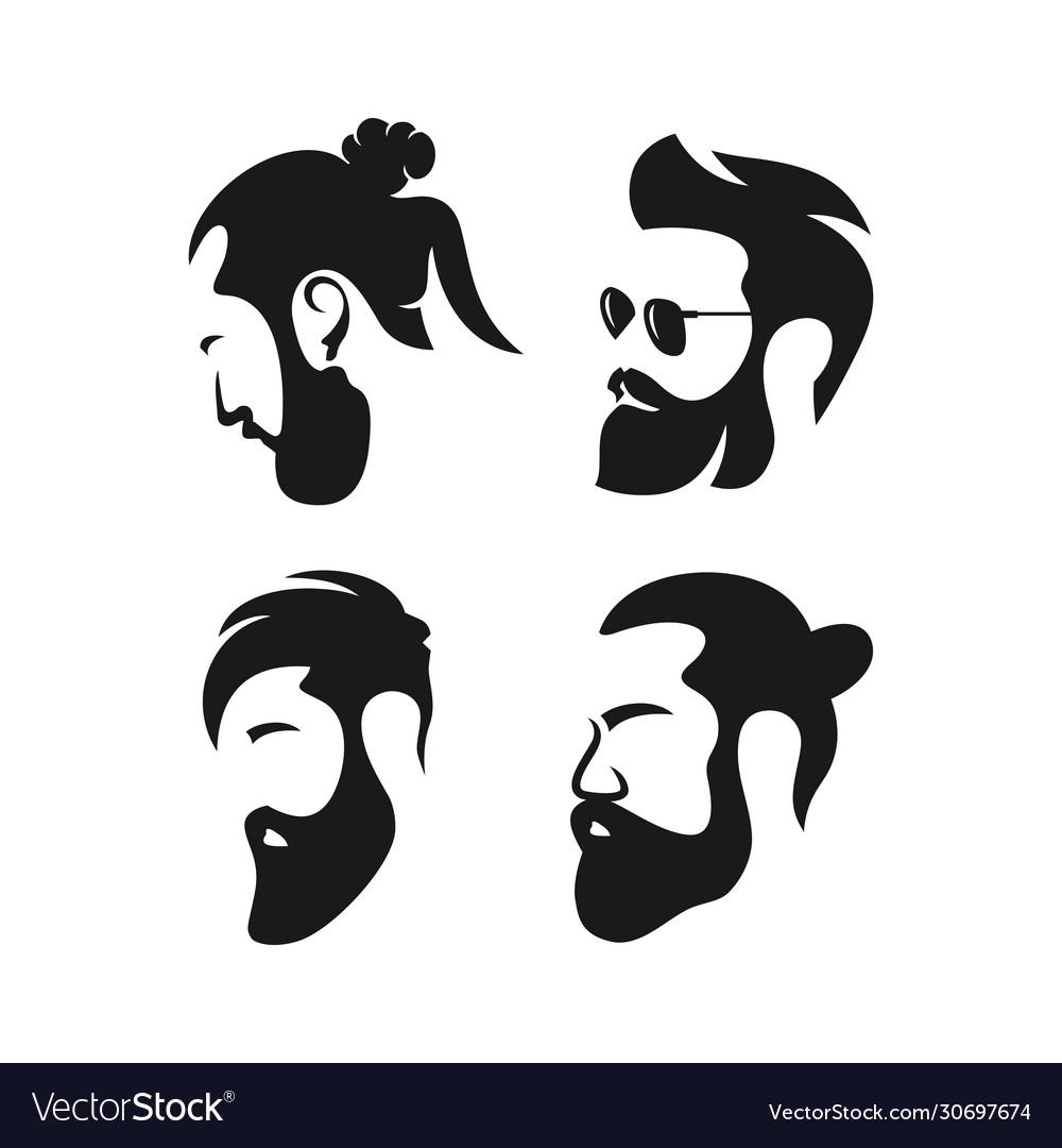 Mens Hair Salon Logo Royalty Free Vector Image