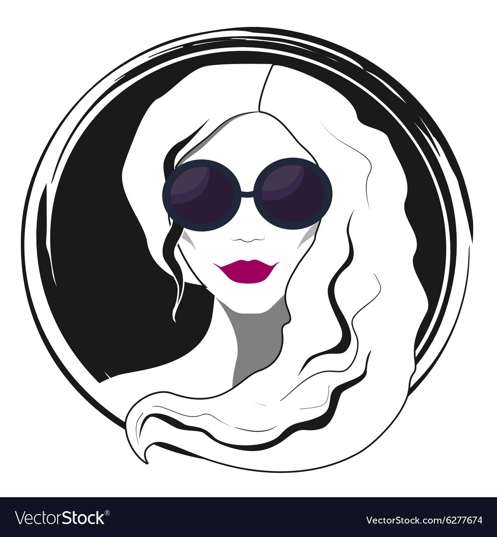 Woman fashion with sunglasses vector image