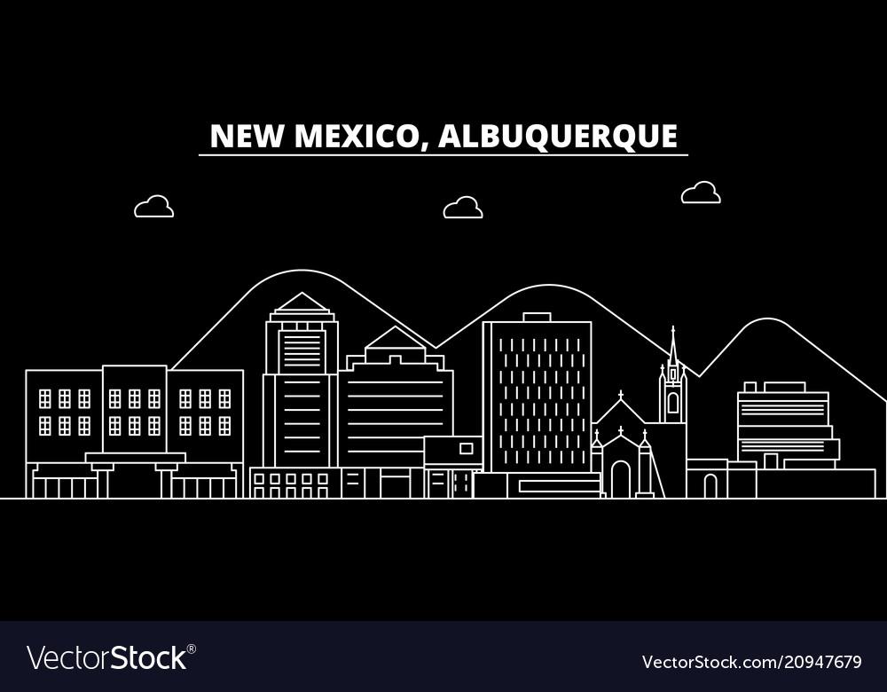 Albuquerque silhouette skyline usa - albuquerque