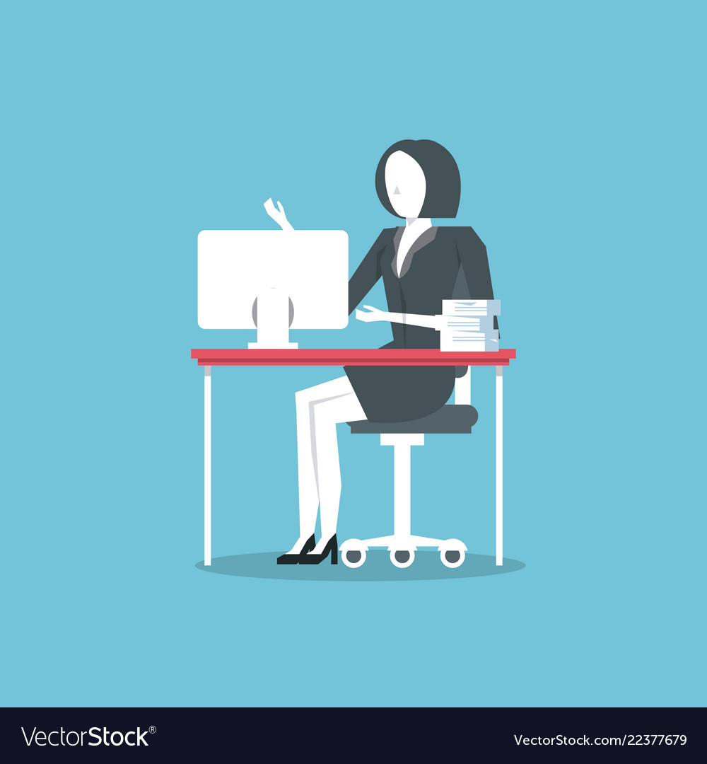 businesswoman hardworking icon royalty free vector image