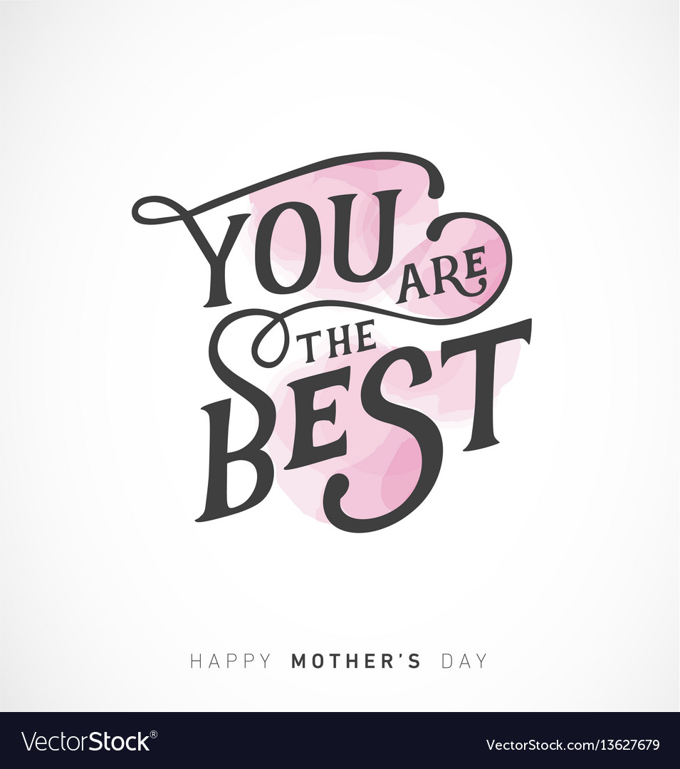 Mothers day greeting card with pink elements