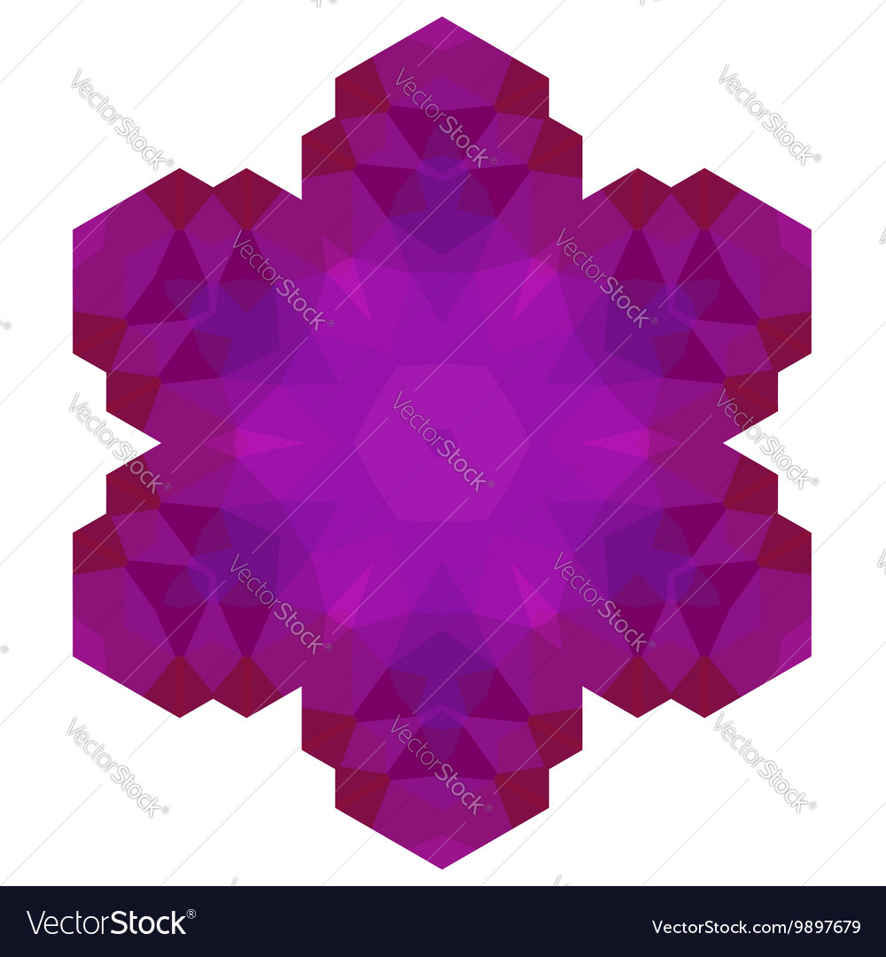 Polygonal Pink Symbol