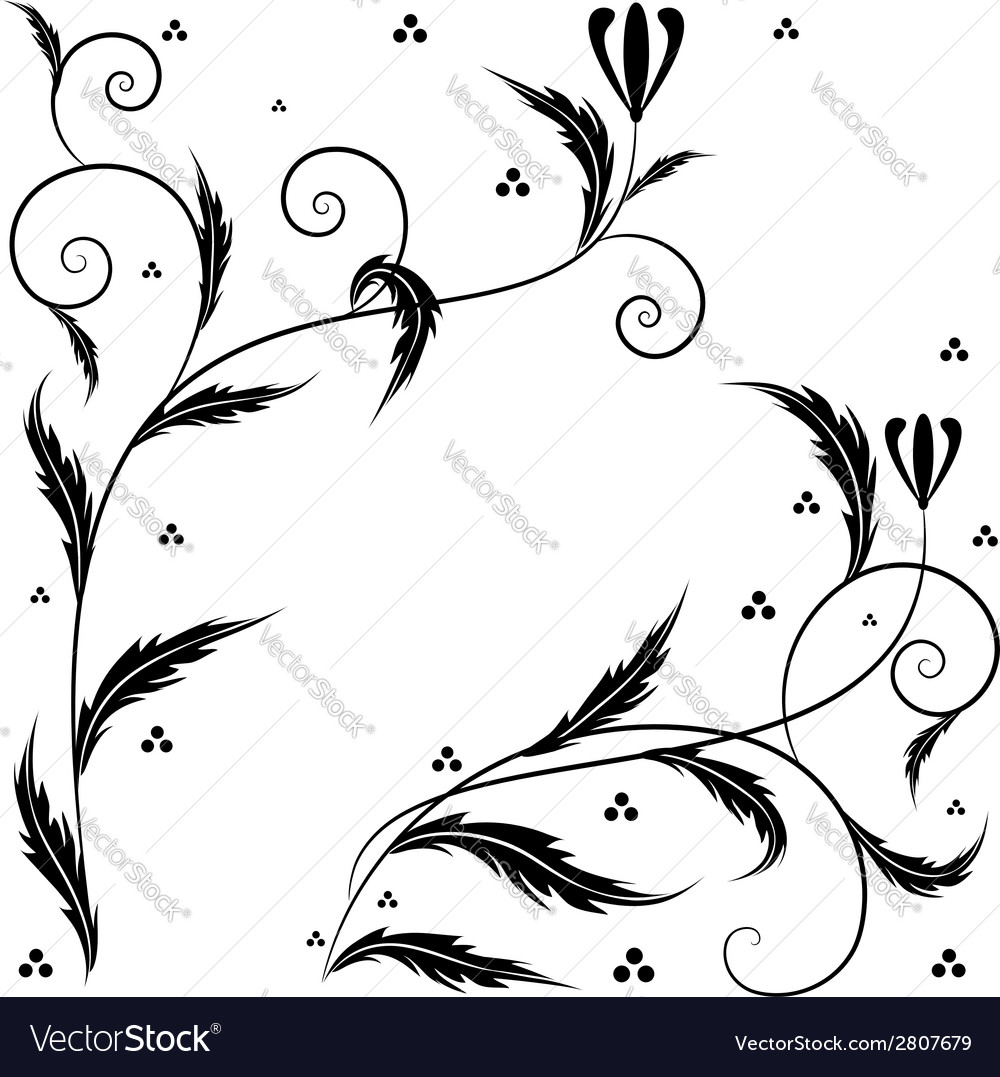 Retro floral art