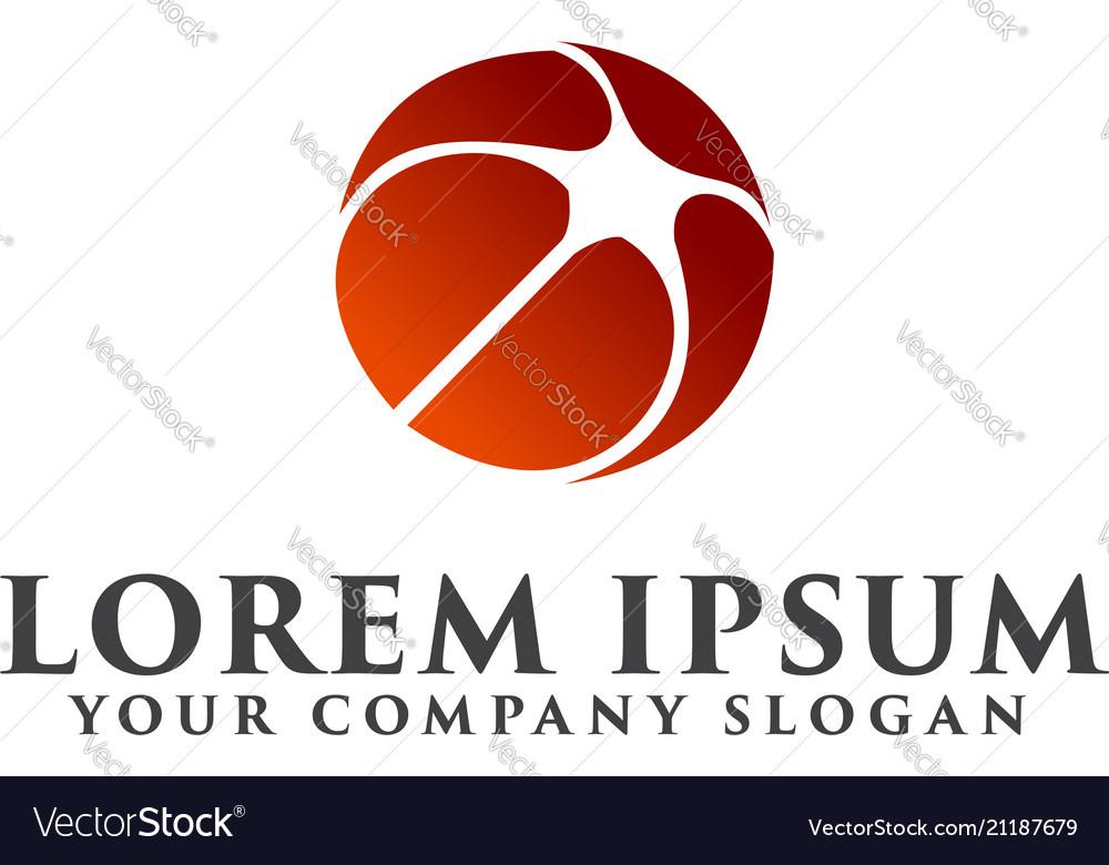 Star ball logo design concept template