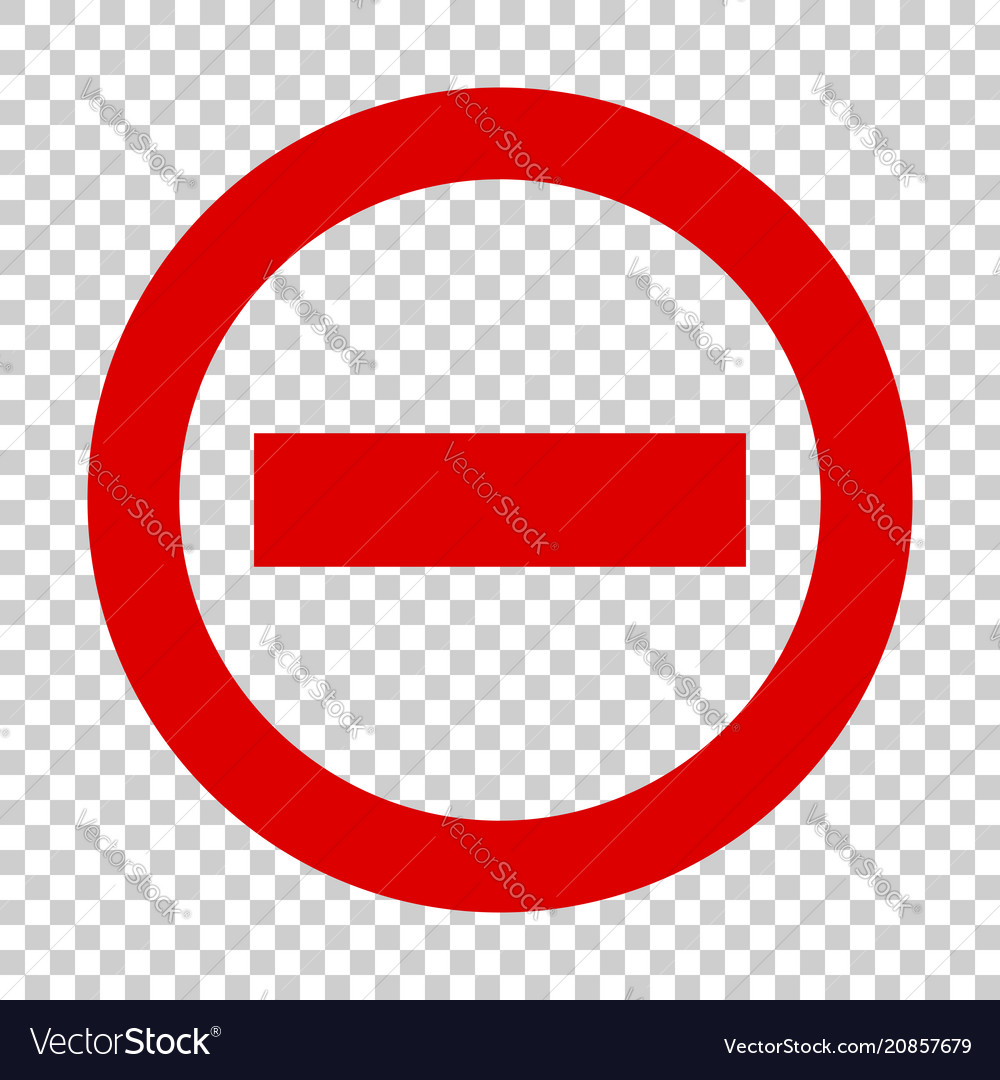 Stop sign icon in flat style danger symbol on