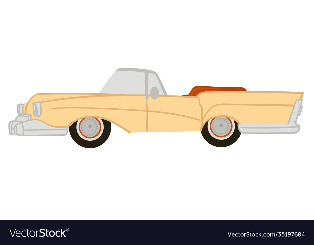 American vintage or retro car with no ro