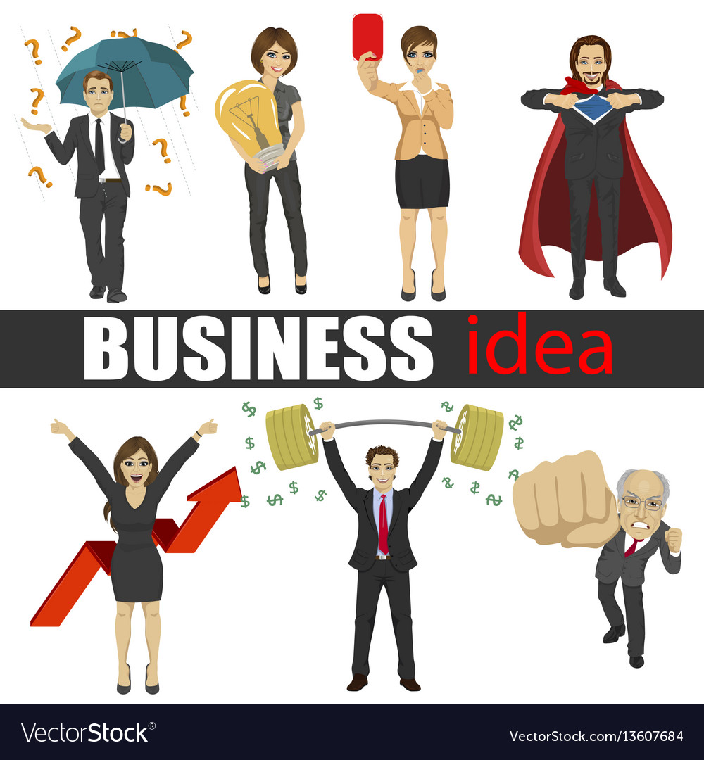 Business people idea set characters