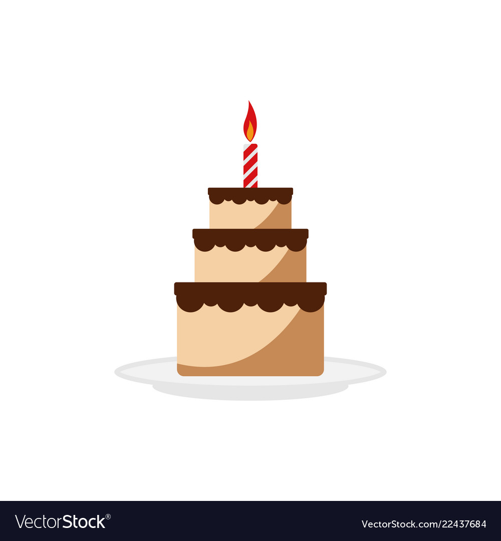 Excellent Delicious Cake Birthday Graphic Design Element Vector Image Funny Birthday Cards Online Alyptdamsfinfo
