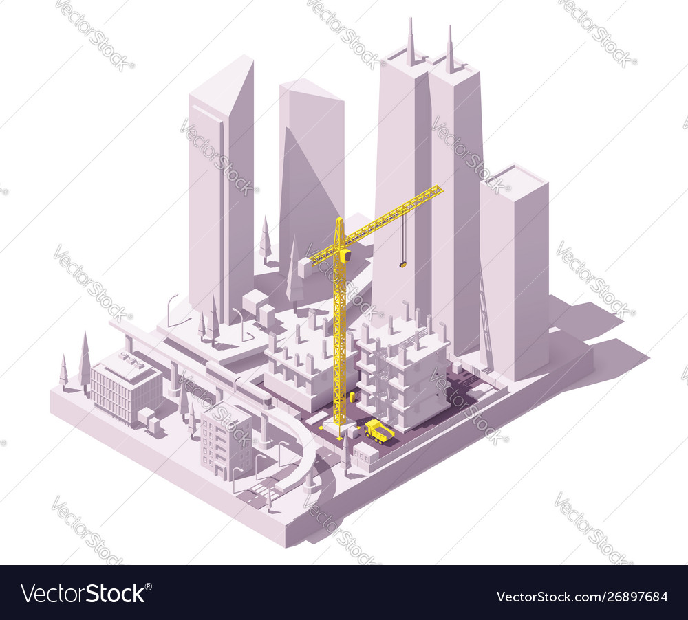 Isometric construction site