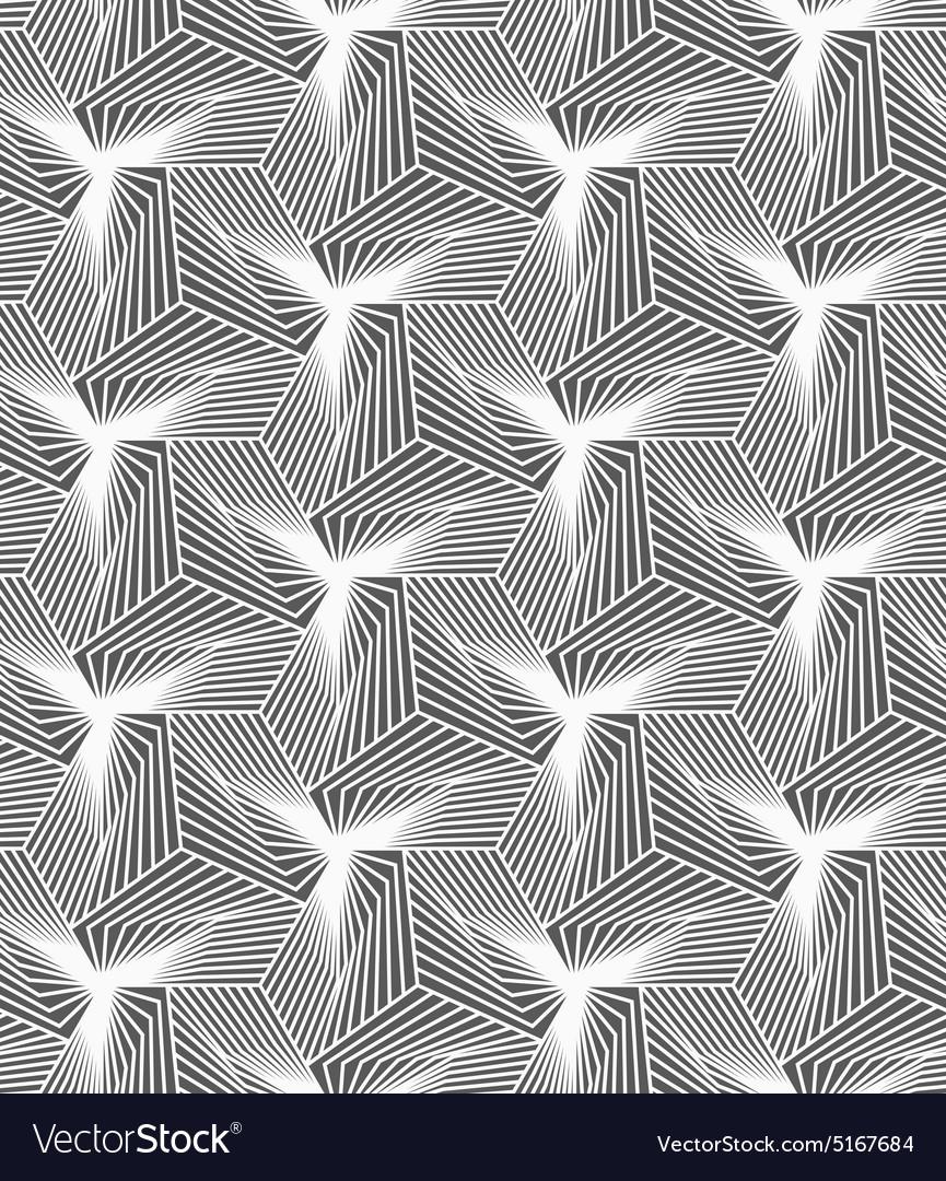 Monochrome striped shapes forming pyramids